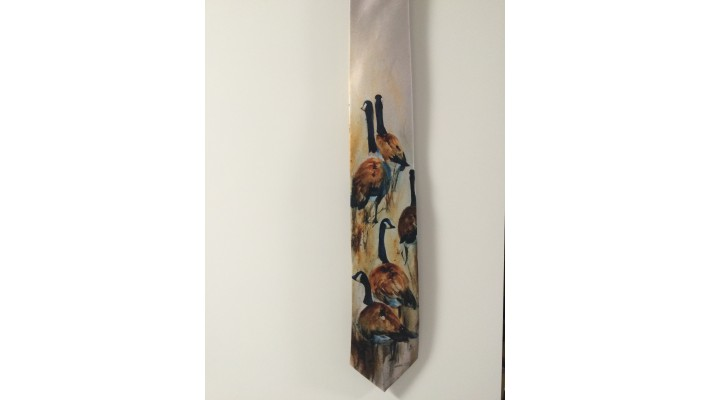 Cravate soie - Bernaches