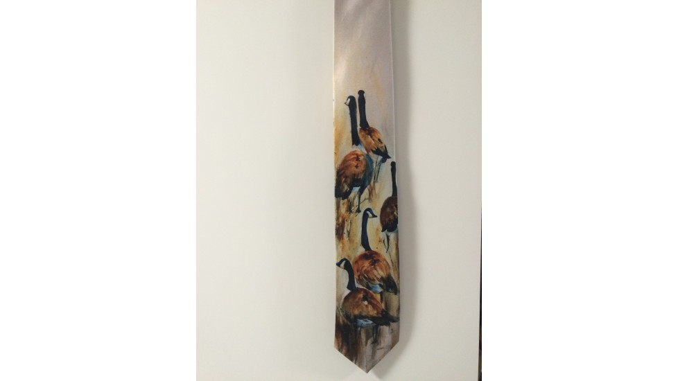 Cravate soie - Bernaches