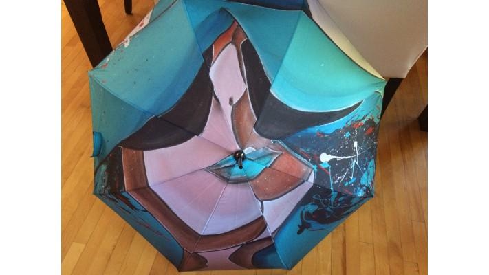 Parapluie - Dame en turquoise-Parapluie