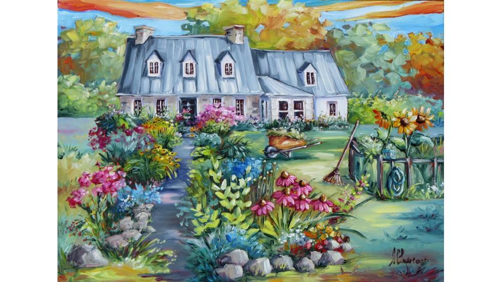 Napperons - Maison fleuris