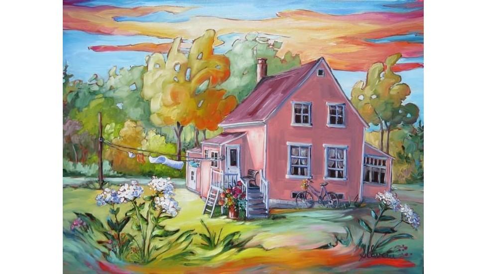 Napperons - Maison rose