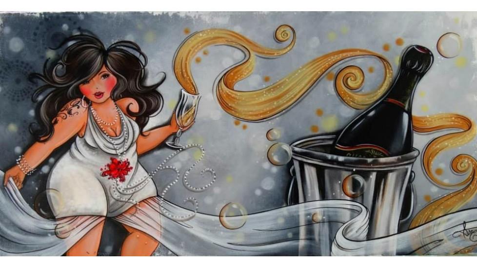 Foulard soie - Des bulles pour toi et moi