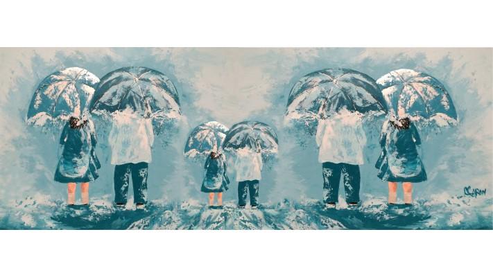 Foulard soie - Pluie